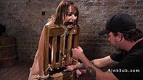 Bondage brunette spanked and tormented pornhub video