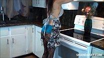 Cum in My Canadian Kitchen!! ShandaFay!!