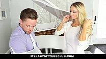MyBabySittersClub - Blonde Teen Babysitter Help...