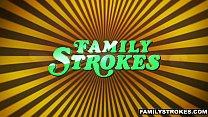 FamilyStrokes - Hot Milf Fucks Nerdy Step-Son On Vacation - 9Club.Top