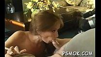 Ebon sucks a diminutive cock while holding a lit cigarette