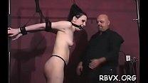 Slut enjoys hardcore restraint