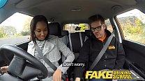 Fake Driving School Pretty black girl seduced by driving instructor Vorschaubild