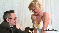 Lovesome bookworm gets seduced and nailed by her elder lecturer's Thumb