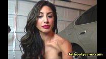 Image: Hot Latina showing body & smoking on cam - fatbootycams.com