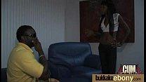 Ebony in a huge bukkake 12
