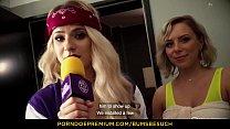 BUMS BESUCH - Hot German porn star Lilli Vanilli blows & fucks amateur guy in hotel room