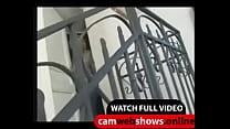 Blonde MILF Undress On Her House - CamWebShows.Online