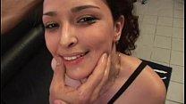Brunette babe gets hard fisted porn image