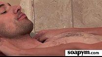 Babe gives erotic soapy massage 11