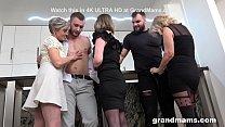 First Ever Granny Orgy! Cock Fest! Vorschaubild