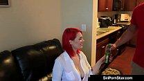 Curvy Read Head Siri Pornstar Gets Her Plump Cunt Creampied! image