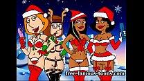 Xmas famous cartoon orgy