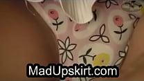 Teen girl in upskirt HD video