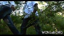 Gal gets black rod in wazoo video