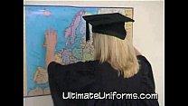 Big Tits Blonde In School Teacher Uniform With ...