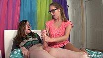 Nerd Teen Jerks Off Her Friend Thumbnail