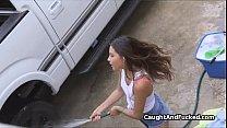 Fucking the cute car wash chick thumbnail