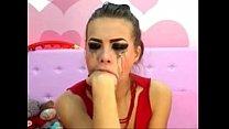 Screenshot cam girl gag s herself on a dildo camsluts666.com