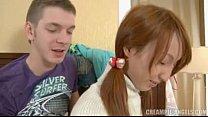 A redhead is cumming