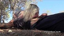Blonde deep throats cops cock outdoors pornhub video