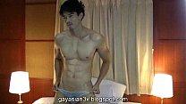 ดูหนังเอ็กซ์เกย์หล่อหน้าเหมือนดารา ถอดกางเกงในเอาควยมาชักว่าวเสร็จแล้วโด่น้ำแตกเต็มเตียง