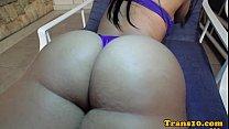 Solo latina tranny toying her culo