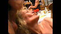 Two criminals breaking in a house and abusing two mature women Preview