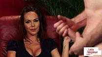 Download video bokep Busty british voyeur instructing jerking subs 3gp terbaru