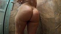Big Ass Girl ta kes shower then Rides Cock  Rides Cock