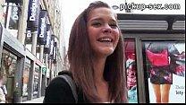 Cute amateur brunette Czech girl Kelly Sun fucked for money