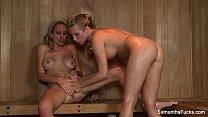 Sauna Lesbians With Samantha Saint preview image