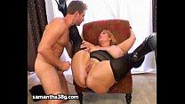 Huge Tit MILF BBW Samantha 38G Fucks Stud Model
