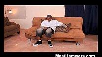 Ebony girl banging a big black cock