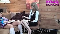 Headmistress Kyaa Spanks Brat Janey Into Submission