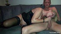 German Amateur MILF Fuck with Big Dick Stranger
