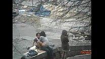 Friend waits while her friend gets tagged in public Vorschaubild