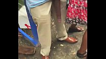 Huge! Big Black Dick Flash in Public Bus Stop preview image