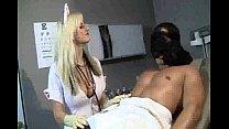 latex nurse gives a handy j