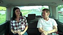 Ryan Ryder convince young innocet sweet Jasmine Jae to fuck in driving van image