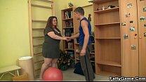 Big titted fatty fucks her fitness instructor [보디빌더 피트니스 Bodybuilder]