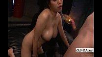 Subtitled Uncensored Japanese Av Star Blowjob Handjob