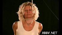Horny woman gets tits torture xxx in harsh sadomasochism video thumbnail
