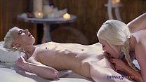 Massage Rooms Blonde nymphs Mia Casanova and Lovita Fate sensual orgasms Vorschaubild