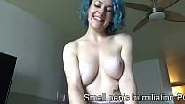 POV humiliation girls riding small penis Vorschaubild