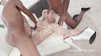 Blonde Goddes Barbie Sins gets 2 BBCs with Big Gapes, Balls Deep Anal & DAP Image