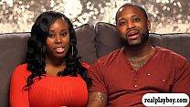 Black and eby couple threesome scene - 9Club.Top