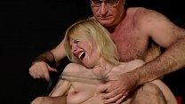 Masturbating blonde slut whipped and slapped