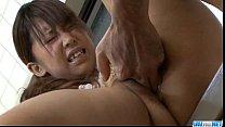 Maki Sakashita big tits teen drilled roughly
