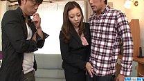Rough office hardcore trio with hot Maki Mizusawa [스타킹 stockings]